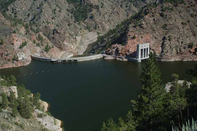 Seminoe Dam and Reservoir